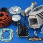 Gruppo termico Vespa racing Parmakit aspirato al cilindro