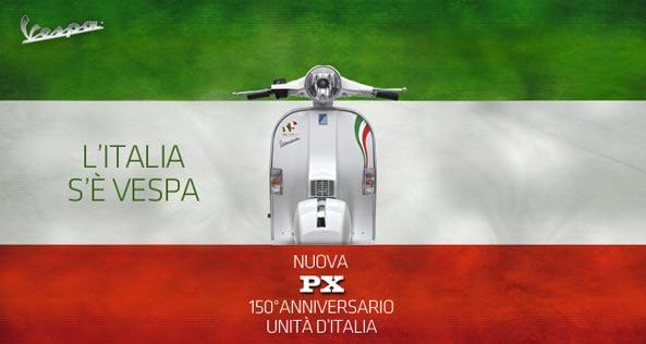 vespa px 150 anniversario unità d'Italia